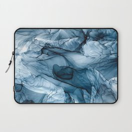 Churning Blue Ocean Waves Abstract Painting Laptop Sleeve