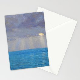 Ocean Sunset, California by Granville Redmond Stationery Cards
