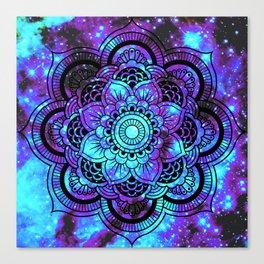 Mandala : Bright Violet & Teal Galaxy 2 Canvas Print