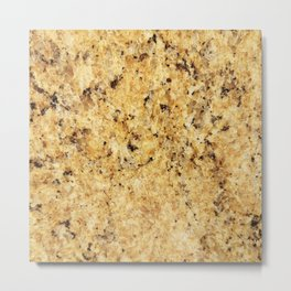 Modern gold yellow black abstract stylish marble Metal Print