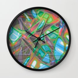 Colorful Abstract Stained Glass G299 Wall Clock