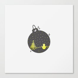 Christmas inside a sphere Canvas Print