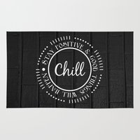 chill Area & Throw Rugs featuring CHILL by Daniela Enriquez