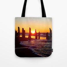 Stunning sunset through the sticks Tote Bag