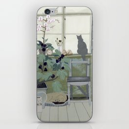 Indoor Garden With Fig Tree iPhone Skin