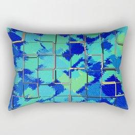 Abstract Squares Blue & Green Rectangular Pillow