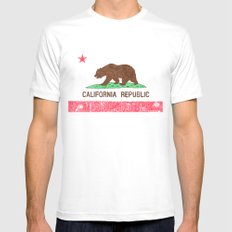 MADE IN CALIFORNIA Mens Fitted Tee White MEDIUM