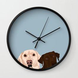 2 Labradors Wall Clock