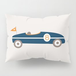 Soapbox Derby Blue Car Pillow Sham