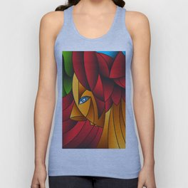 The Queen Cubism Art Unisex Tank Top