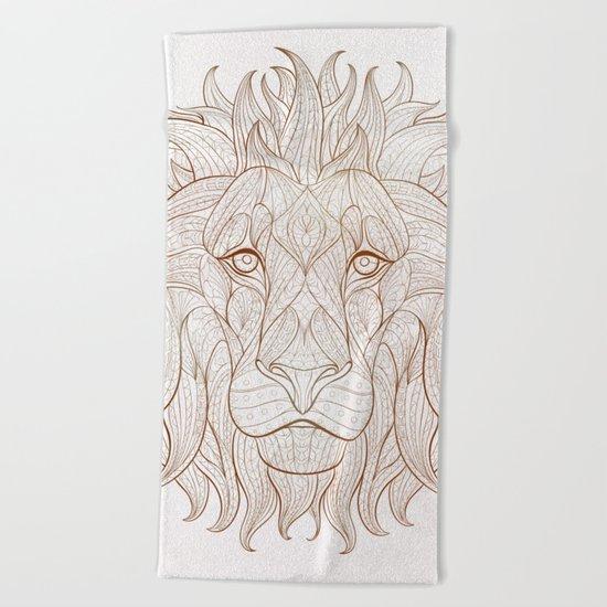 Ethnic Lion Beach Towel