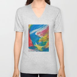 Abstract Artwork Colourful #4 Unisex V-Neck