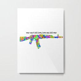 Heart Gun Metal Print