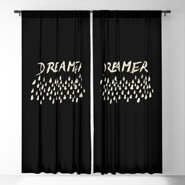 DREAMER #1 #typo #drawing #decor #art #society6 Blackout Curtain