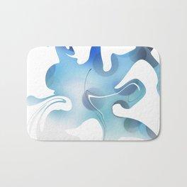 Abstract Blue Mixed Paint design Bath Mat