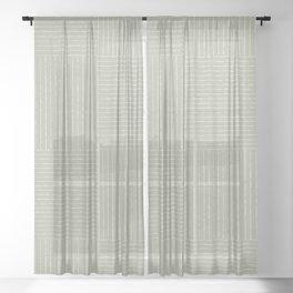 Lines III (Linen Sage) Sheer Curtain