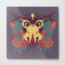 Abstraction Nineteen Orisha Metal Print