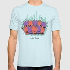 Coral Group Light Blue LARGE Mens Fitted Tee
