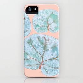 Tropical Sea Grape Leaves iPhone Case