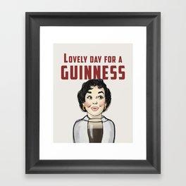 Lovely Day for a Guinness Framed Art Print