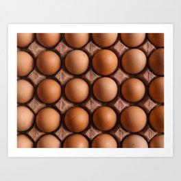 Brown eggs pattern Art Print
