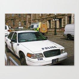 World War Z Police street scene 2 Canvas Print
