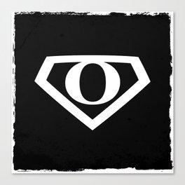White Letter O Symbol Canvas Print