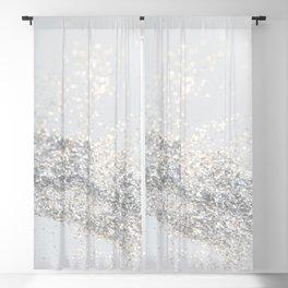Silver Gray Glitter #3 #shiny #decor #art #society6 Blackout Curtain