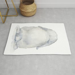 Mini Lop Bunny Rabbit Tail Rug