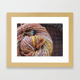 Fall in love with fall knitting Framed Art Print