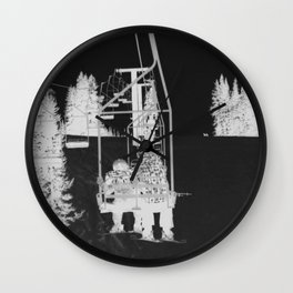 Inverted Ski Lift Wall Clock