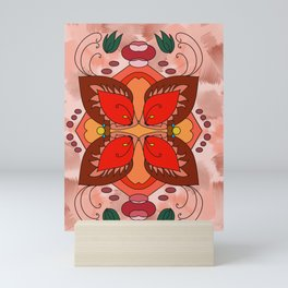 Floral Illusion Mini Art Print