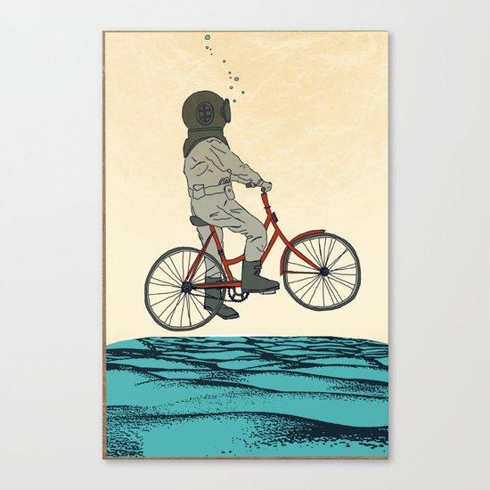 AQUA CYCLE Canvas Print