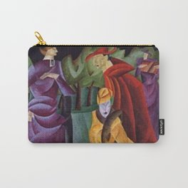The Jesuit Walking in the Gardens III, portrait art deco painting by Lyonel Feininger Carry-All Pouch