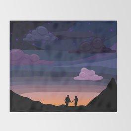 Klance sunset Throw Blanket
