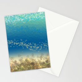 Abstract Seascape 04 wc Stationery Cards