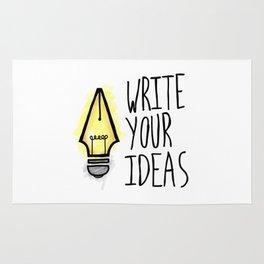 Write Your Ideas Rug