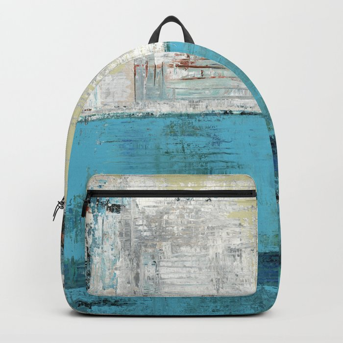 Fairbanks Abstract Light Blue White Backpack