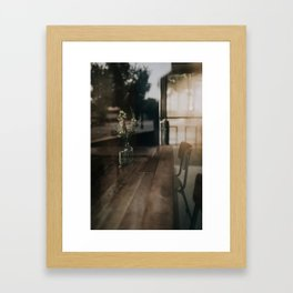Morning Light Through Coffee Shop Windows Framed Art Print