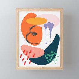 abstract dripping Framed Mini Art Print