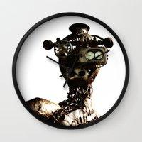 robot Wall Clocks featuring robot by Кaterina Кalinich