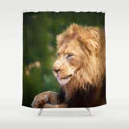 King Of The Jungle (digital Painting) Shower Curtain