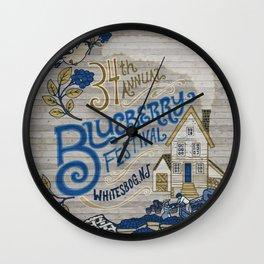 Whitesbog Blueberry Festival Poster Wall Clock