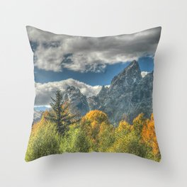 The Tetons From The Snake River Throw Pillow