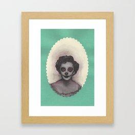 dia de los muertos Elizabeth Taylor portrait Framed Art Print