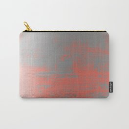 Silver and Coral Carry-All Pouch