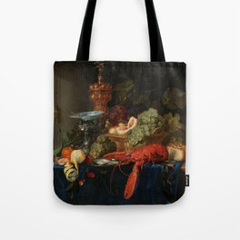 Vintage Still Life Painting with Lobster Tote Bag