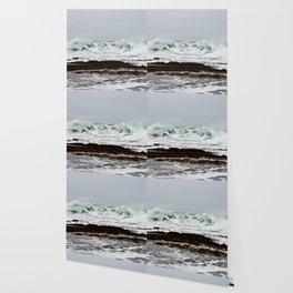 Green Wave Breaking Wallpaper