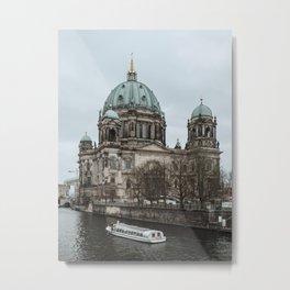 Boat ride in the Spree in Berlin Metal Print