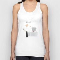chef Tank Tops featuring Cuckoo Chef by Marcelo Badari
